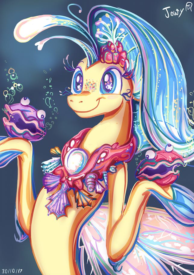 #1574076 - artist:jowybean, cute, my little pony: the movie, princess skystar, safe, scene interpretation, seapony (g4), seaquestria, sheldon, shelly, skyabetes, smiling, solo, spoiler:my little pony movie, underwater, wingding eyes - Derpibooru - My Little Pony: Friendship is Magic Imageboard