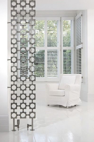 Less like a radiator, more like a room divider in this position. Interesting idea if you have the space.