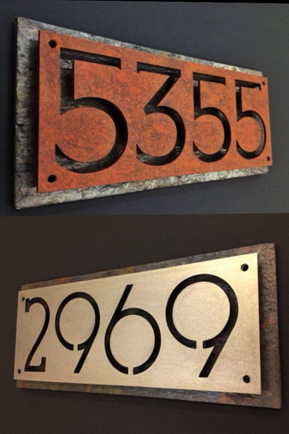 25 best ideas about house number signs on pinterest - House number plaque ideas ...
