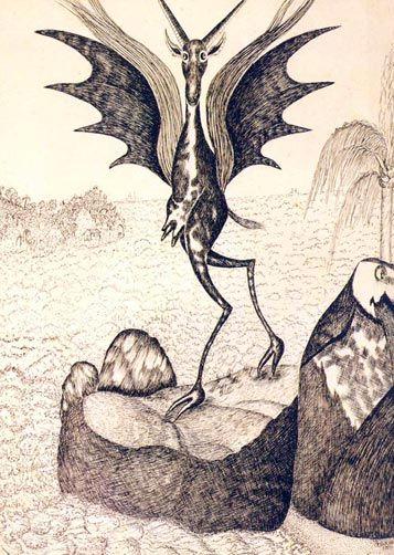 Boitatá (Bita - cabra; tatá - fogo) / 1970 / Nanquim sobre papel / 0,495x0,358 m :imagem 4