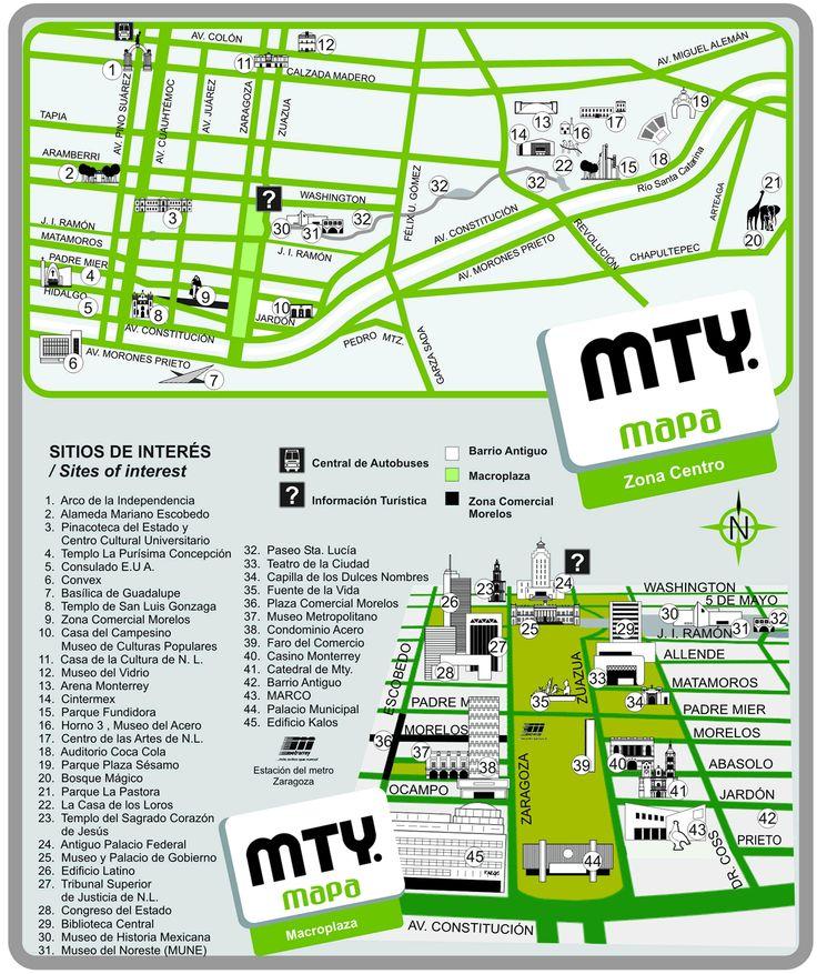 Map of Holiday Inn Monterrey Norte, Monterrey |Old Monterrey Mexico Map