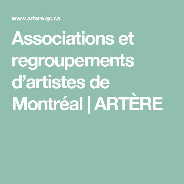 Associations et regroupements d'artistes de Montréal   ARTÈRE