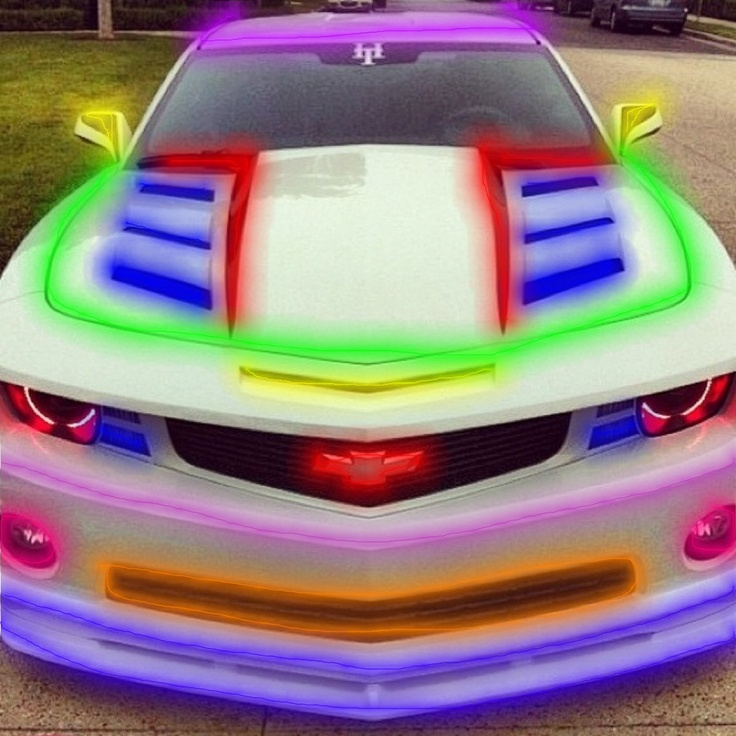 Crazy Cool Colorful Camaro