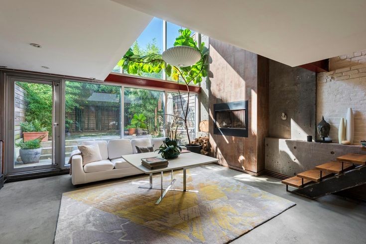 Chic, concrete-covered Red Hook townhouse with spacious backyard wants $3.35M - Curbed NY