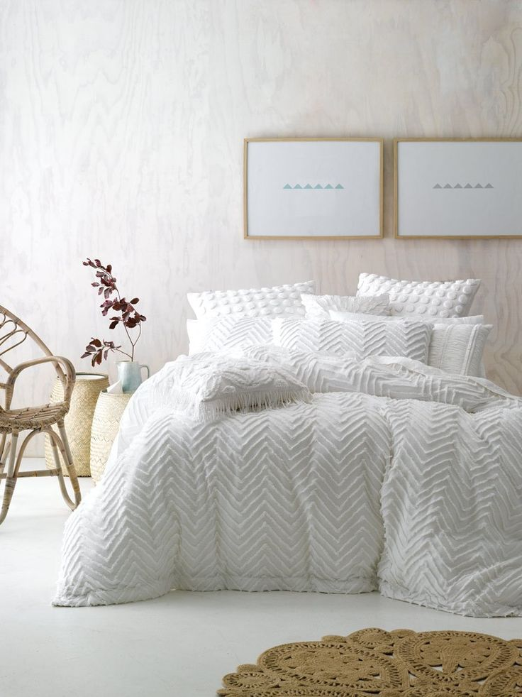 Love this texture. Fog Quilt Cover Set - White Out - T&W Blended Events 2015