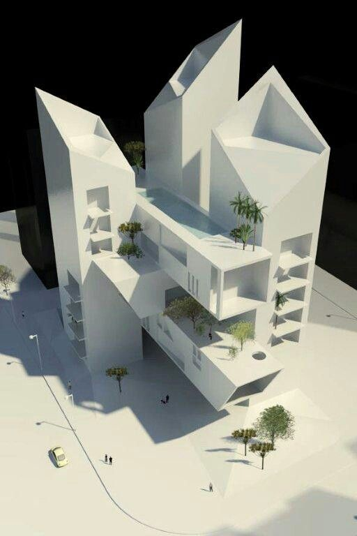 The lofts, residential tower concept - in Beirut, Lebanon - by 3rd DIMENSION Architects www.3darchitects-lb.com _ #architecture #design #architectsinlebanon