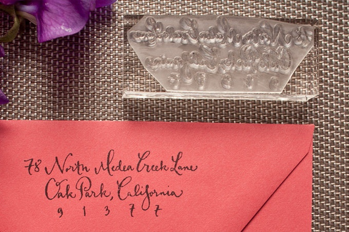 Custom Calligraphy Address Stamp: Returns Address Stamps, Paper Blog, Clear Address, Beauty Paper, Calligraphy Address, Clear Returns, Murray Calligraphy, Card Invitations, Custom Calligraphy