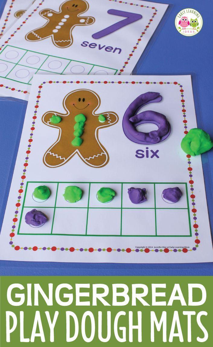 Gingerbread Math Activities Gingerbread Fine Motor Christmas Play Dough Mats Gingerbread Math Activities Christmas Kindergarten Gingerbread Activities Gingerbread man preschool games