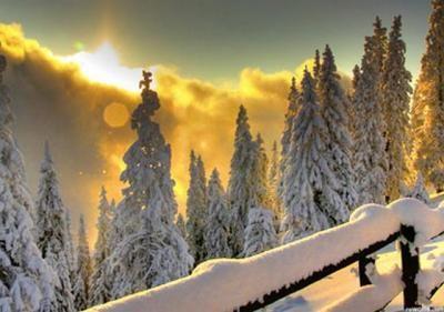 Вот так выглядит настоящая русская зима. Мурманская область