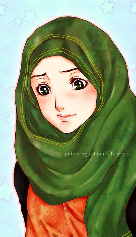Blushing Muslim Girl (Anime  Manga Style Drawing) #Hijab #muhajabbah #muslimah #anime #manga #cartoon #islam #veil #islamic #woman #lady #girl #hijabbers #muslim #deviantART #drawings #drawing