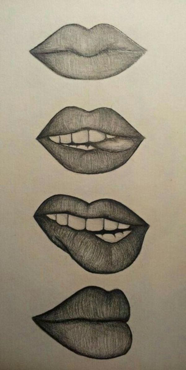 My Pin Ideas Art Drawings Simple Lip Drawing Cool Art Drawings