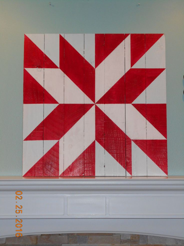 Rustic Red Star 2'x2' www.morningstarbarnquilts.com