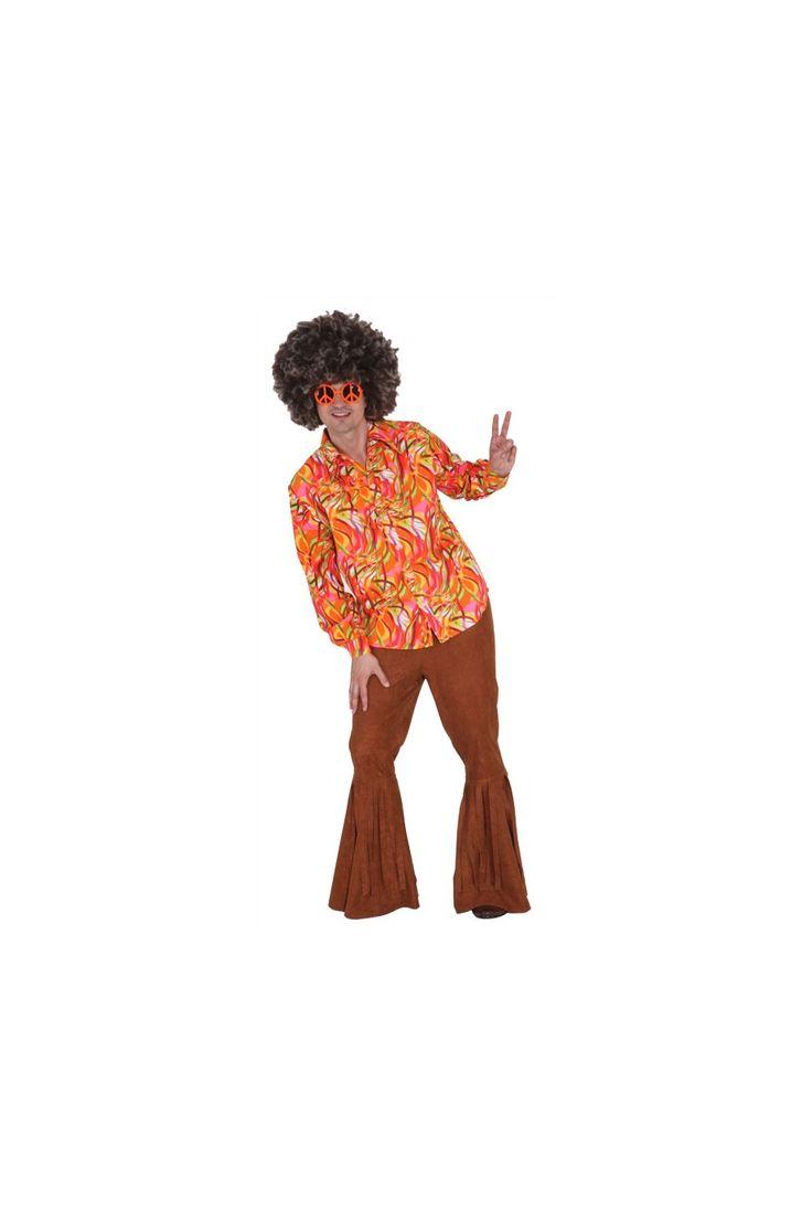 Camicia vintage per costruire il tuo vestito anni 70. nel sito troverai un sacco di accessori a tema dagli occhiali alla parruca ed in negozio naturalmente anche le scarpe.