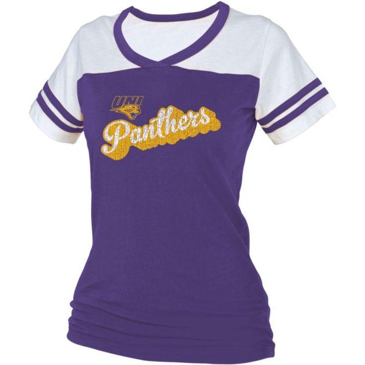boxercraft Women's Northern Iowa Purple/White Powder Puff T-Shirt, Size: Medium, Team