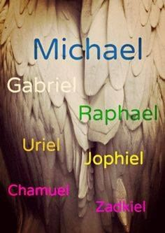 Archangel Michael & The Legion of Light                     This is a powerful list of 7 of The Archangels... Archangel Michael, protect me. Archangel Raphael, heal me. Archangel Uriel, illuminate my path. Archangel Gabriel, fearlessly show me the way. Archangel Jophiel, teach me to use my creativity Archangel Zadkiel, help me to forgive myself and others Archangel Chamuel, help me see all with the eyes of love.