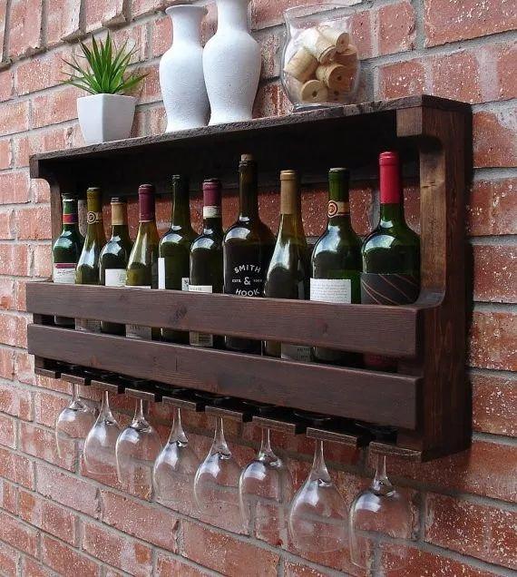 adega vinhos madeira porta taças /frete grátis promo instag