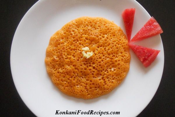 Soft, fluffy, delicious watermelon dosa. Called as kalingana polo in Konkani. These dosas make a heavenly breakfast with butter on top & with a spicy coconut chutney. You can aslo make sweet watermelon dosas.