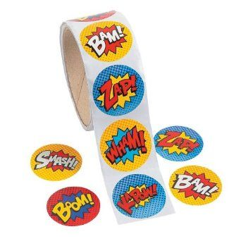 Pack of 100 - Superhero Theme Stickers - Great for X-Men,Spiderman,Marvel Super Heroes Party Loot Bags: Amazon.co.uk: Toys  Games