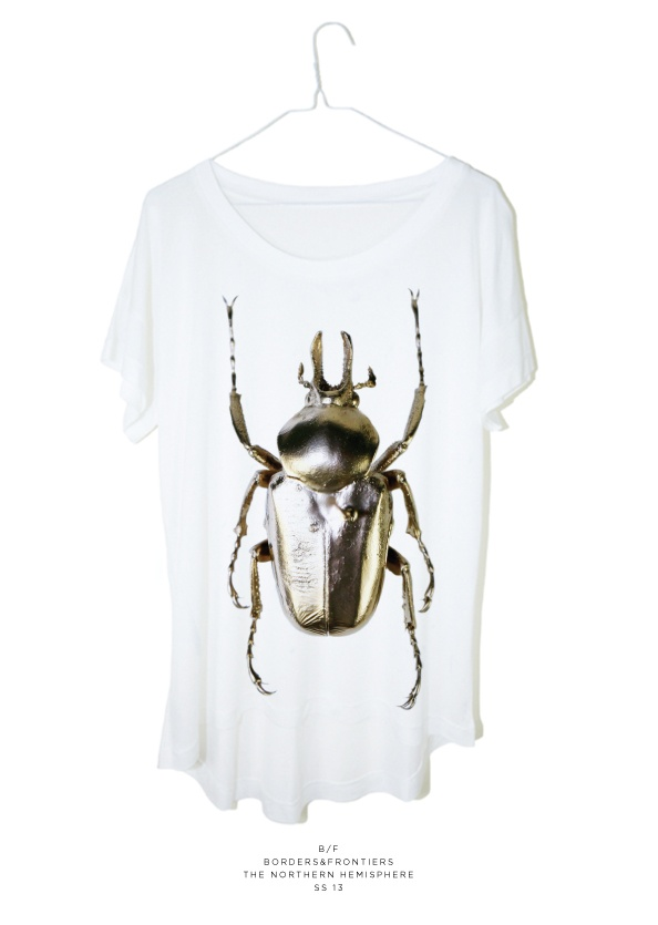 Borders & Frontiers Gilded Beetle Micro Modal T 13
