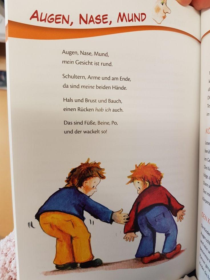 Auge Nase Mund #reim #kita #krippe #erzieherin #gedicht #kindergarten #erzieher #körper
