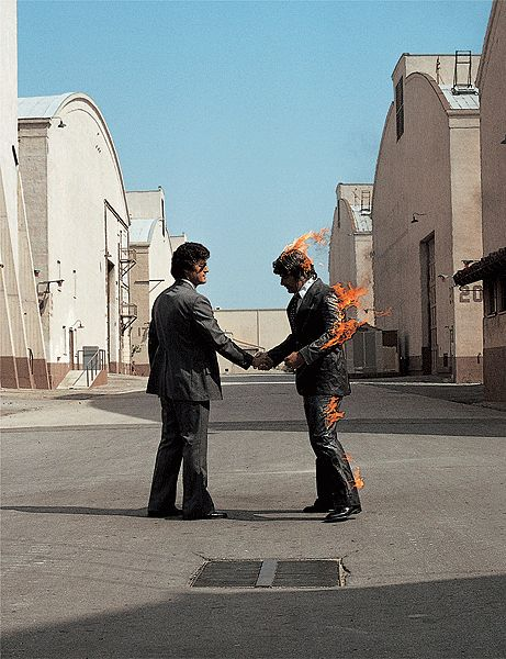 Pink Floyd: Wish you were here, cover by Storm Thorgerson  #photography #graphicdesign