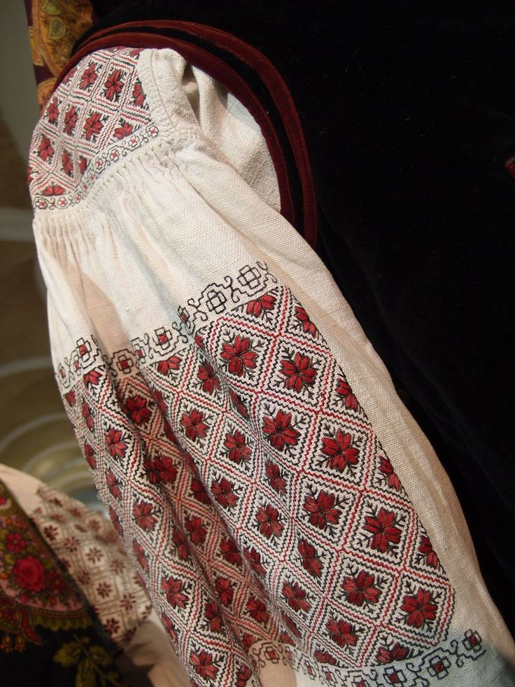 Embroidery Patterns Ukraine Costume Shirt Folk Fancy