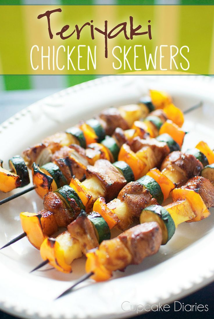 "Teriyaki Chicken Skewers - ""These were really good!!  Take a while to prep everything and marinade so prep the night before!"" - KC"