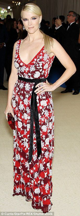 """Go mad for florals like Megyn in Altuzarra  Click """"Visit"""" to buy #DailyMail"""