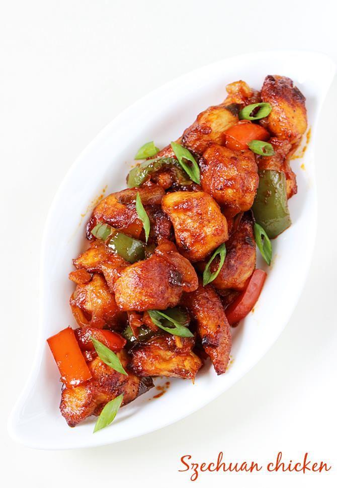 schezwan chicken | szechuan chicken recipe | easy appetizer