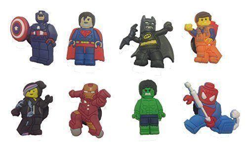 Lego Movie Shoe Charms 8 Pcs Set 1 ** Visit the image link more details.