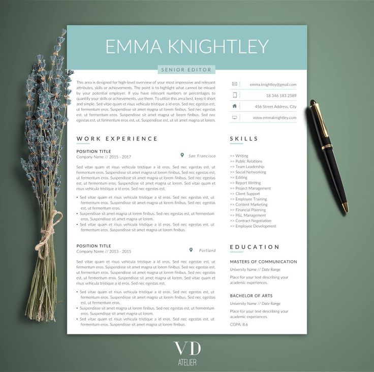 28 best Modern Resume Templates images on Pinterest Modern - free printable resume templates microsoft word