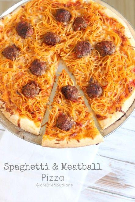 Spaghetti & Meatball Pizza                                                                                                                                                                                 More                                                                                                                                                                                 More