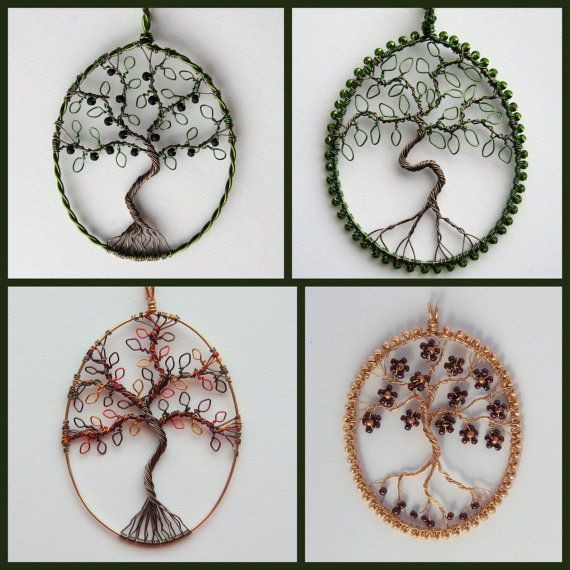 Custom Tree of Life pendant oval wireworked and by LouiseGoodchild, £26.00
