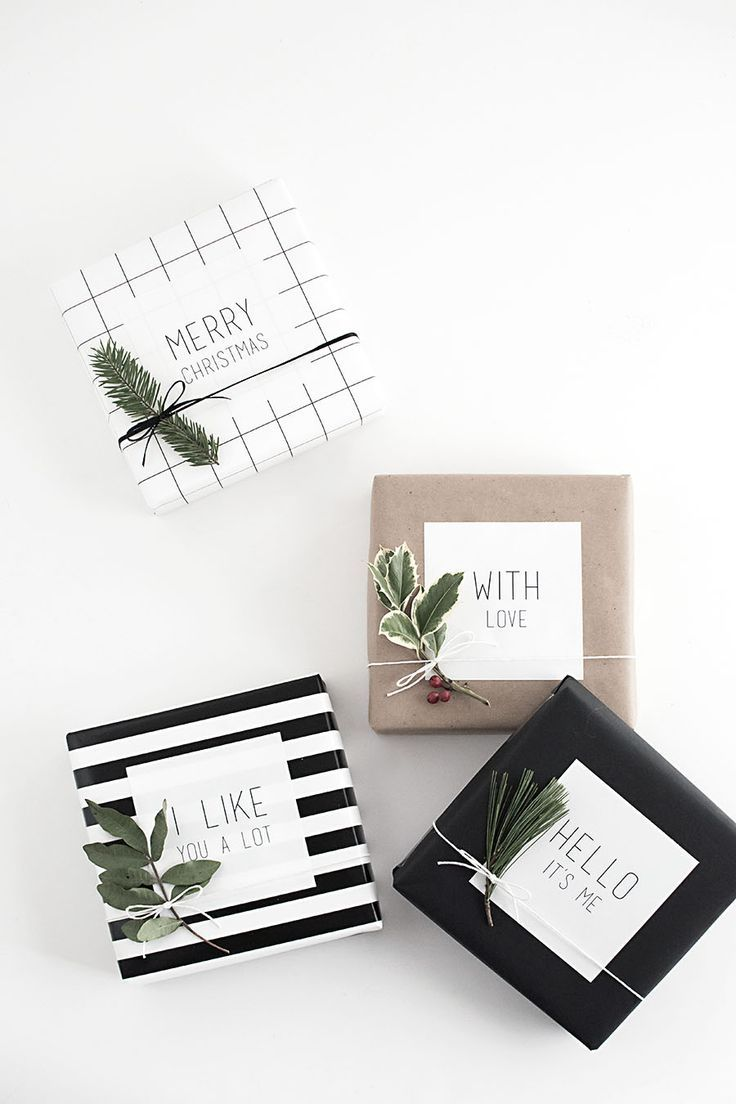 Add these graphic stickers to patterned or plain wrapping paper for striking messages on every gift. Get the tutorial at Homey Oh My!