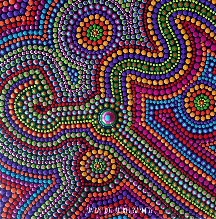 abstract dot art schilderij DREAMING kunst Tessa Smits full