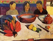 The Meal Aka The Bananas  by Paul Gauguin