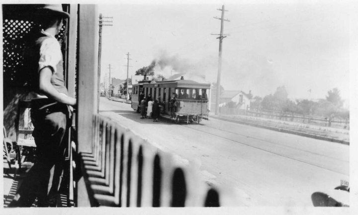 Steam tram, North Parramatta 1920, Australia