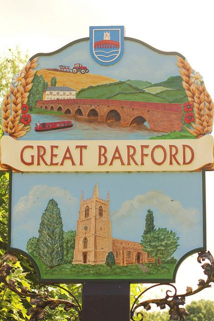 Great Barford Village Sign, England. We lived here for a short time.