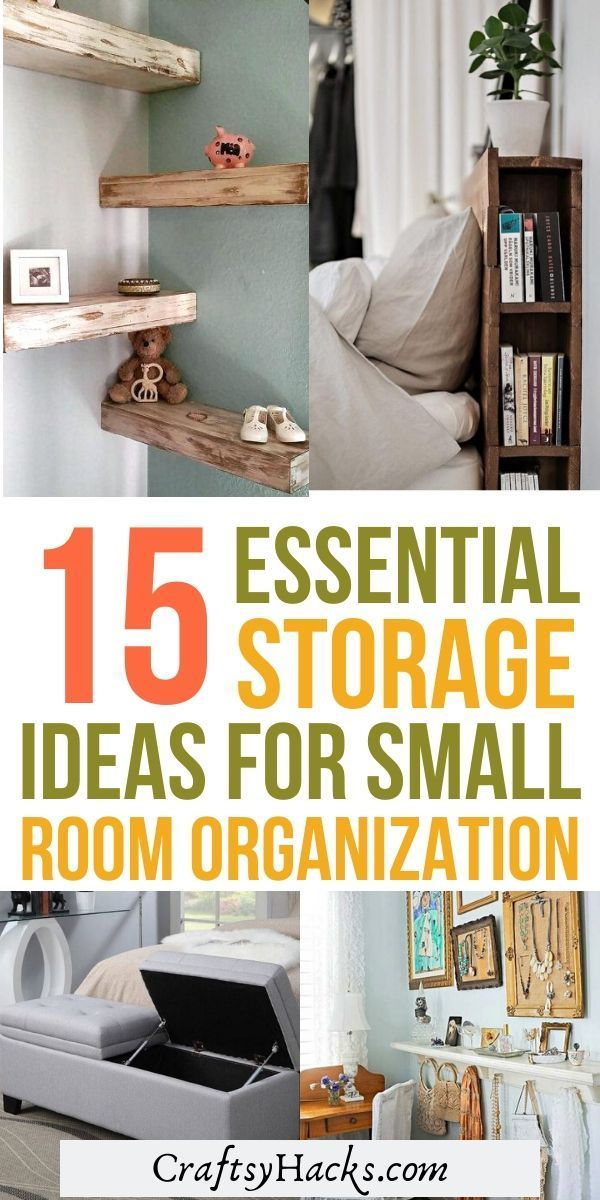 15 Stylish Small Room Storage Hacks In 2020 Small Room Storage Small Room Organization Getting Organized At Home