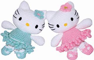 free crochet Hello Kitty pattern