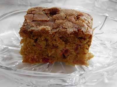 Grandma's Rhubarb Cake by Jill {Dulce Dough} My grandma's rhubarb cak...