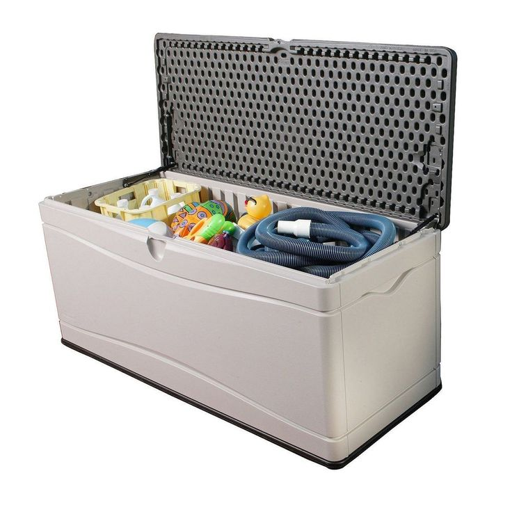 Outdoor Plastic Storage Container Box Patio Deck 150 Gal
