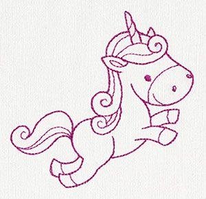 Creature Feature - Unicorn 3 design (UT10282) from UrbanThreads.com