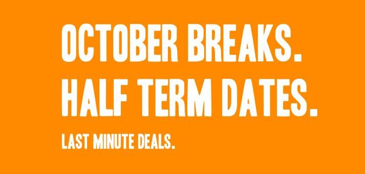 Last minute autumn holidays including for October half term