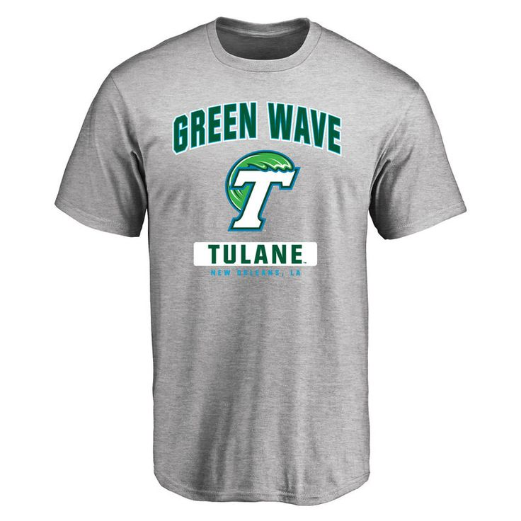 Tulane Green Wave Big Amp Tall Campus Icon T Shirt Ash