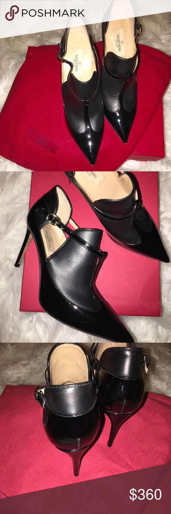 Valentino Black Pumps Used one time. Purchased at the Valentino Outlet Palm Desert. Comes with original box and dust bag. Valentino Shoes Heels