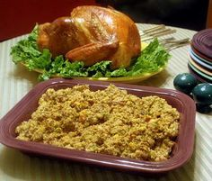 Grandma's Cornbread Dressing and Giblet Gravy    This old-fashioned cornbread dressing is flavorful, tender and moist. Not fancy, its ingredients are simple. Grandma didn't hold with the notion that the more stuff you put in cornbread dressing, the better it is. The heart of the dressing is the cornbread, and the following recipe produces a coarse-crumbed, flavorful base for the dressing