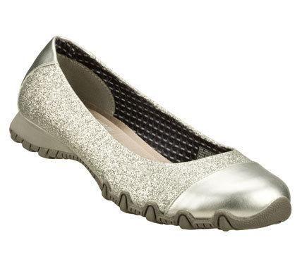 skechers ballet flats gold