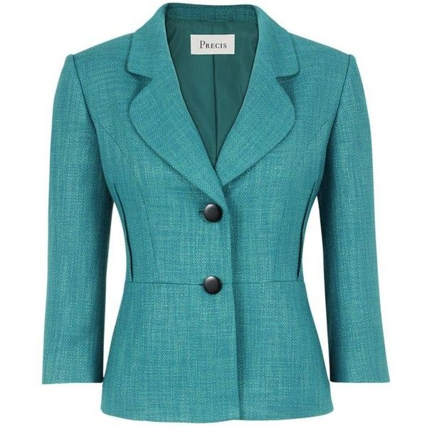 Precis Petite Single Breasted Tailored Jacket, Deep Jade (5.720 RUB) ❤ liked on Polyvore featuring outerwear, jackets, coats & jackets, blazers, tops, голубой, petite blazer, precis petite, blazer jacket and tailored blazer