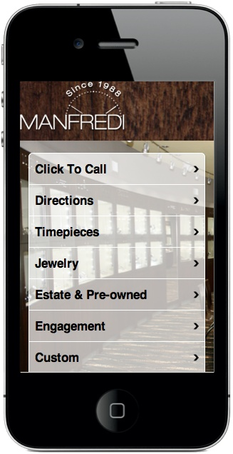 Jeweler Mobile Website Design #mobilewebsite #design #mobile